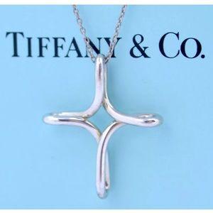 TIFFANY&Co Infinity Cross Pendant Necklace Peretti